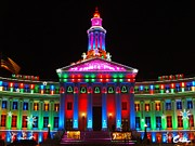 Feile Case Prints - Holiday Lights 2012 Denver City and County Building G5 Print by Feile Case