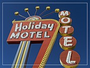 Vegas Framed Prints - Holiday Motel Las Vegas Framed Print by Edward Fielding