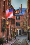 Beacon Hill Posters - Holiday on Acorn Poster by Joann Vitali