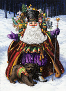 Santa Claus Posters - Holiday Riches Poster by Lynn Bywaters