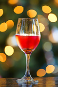 Wine-glass Posters - Holiday Spirits Poster by Bill Tiepelman