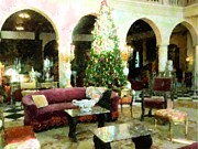 Historic Home Mixed Media Prints - Holiday Time Inside Ringling Print by Florene Welebny