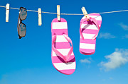 Flops Prints - Holiday Washing Line Print by Christopher and Amanda Elwell