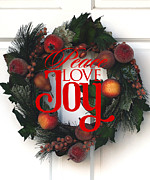 Joy Art - Holiday Wreath  by Rebecca Cozart