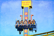 Amusement Park Ride Framed Prints - Holler Framed Print by Fraida Gutovich