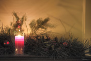 Christmas Holiday Scenery Art - Holly and Light by Traci Law
