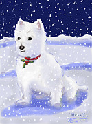 Westie Digital Art - Holly by Jean Pacheco Ravinski