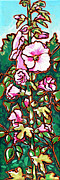 Nadi Spencer Metal Prints - Hollyhock Metal Print by Nadi Spencer