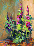 Diane McClary - Hollyhocks at Giverny