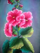 Wildlifeartgallerie Galleries - Hollyhocks