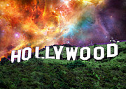Motion Picture Star Prints - Hollywood - Home of the Stars by Sharon Cummings Print by Sharon Cummings