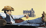 Western Shirt Framed Prints - Hollywood Icon Framed Print by Marcella Lassen