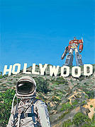 Astronaut Tapestries Textiles - Hollywood Prime by Scott Listfield