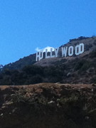 Los Angeles Pyrography Prints - Hollywood Print by Selia Hansen