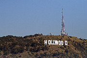 Hollywoodland Posters - Hollywood Sign Poster by James Moore