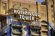 Disney California Adventure Park Prints - Hollywood Tower Print by Ricky Barnard