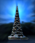 Magic Kingdom Photographs Prints - Hollywood Xmas Tree Walt Disney World Print by Thomas Woolworth
