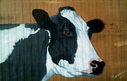 Animal Paintings - Holstein by Debbie LaFrance