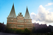 Old Houses Digital Art - Holstentor by Jimmy Karlsson