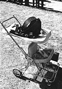 Brief Case Posters - Holster baby carriage Helldorado Days Tombstone 1970 Poster by David Lee Guss