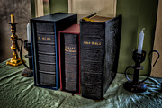 Book Cover Metal Prints - Holy Bibles Metal Print by Adrian Evans