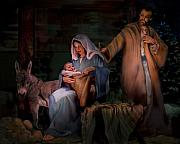 Baby Jesus Paintings - Holy Child by Jean Hildebrant