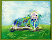 Fanciful Pastels Metal Prints - Holy Cow Metal Print by Diana Tripp