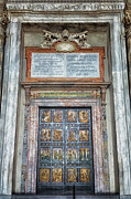 Vatican Framed Prints - Holy Door Framed Print by Joan Carroll