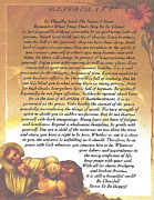 Christmas Eve Painting Posters - Holy Family in The Manger of Desiderata Poster by Claudette Armstrong