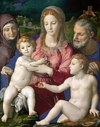 Famous Artists - Holy Family with St. Anne and the Infant St. John by Bronzino
