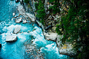 Ganga Photos - Holy Ganga river in Himalayas India by Raimond Klavins