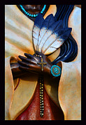 Saint Francis Cathedral Posters - Holy Hands of Kateri Tekakwitha Poster by Susanne Still