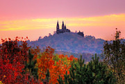 Church On The Hill Prints - Holy Hill in the Fall Print by Anna-Lee Cappaert