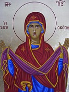 Byzantine Paintings - Holy Mary  by Athanasios Skouras