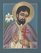 New Martyr Paintings - Holy New Martyr Father John Karastamatis of Santa Cruz by William Hart McNichols