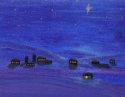 Christmas Star Pastels Posters - Holy Night Poster by Linda Eversole