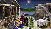 Nativity Scene Prints - Holy Night Print by Reggie Duffie