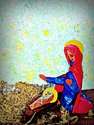Mother Mary Mixed Media - Holy Night by Sarah Loft