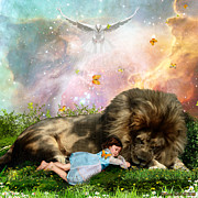 Lion Of Judah Posters - Holy Rest Poster by Dolores DeVelde