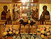 Christian Orthodox Posters - Holy Saturday at St Mary Magdalen Church 2 Poster by Sarah Loft
