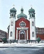 Holy Spirit Ukrainian Catholic Church Pointe St. Charles Print by Reb Frost