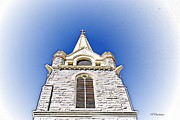 Poster From Digital Art Metal Prints - Holy Trinity in the Sky Metal Print by Barbara Chichester