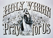 Holy Virgin Pray For Us Print by Digital Reproductions