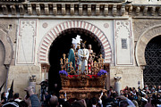 Door Sculpture Photos - Holy Week Celebration in Cordoba by Artur Bogacki