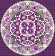 Linda Pope Prints - Holy Week Mandala Print by Linda Pope