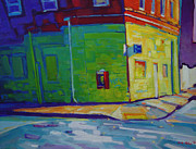 Saturated Paintings - Holyoke  Dwight and Pine by Caleb Colon