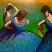 Ballet Dancers Painting Framed Prints - Homage to Degas II Framed Print by John  Nolan