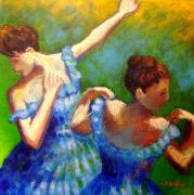 Metal Art Print Posters - Homage to Degas Poster by John  Nolan