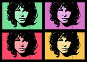 Jim Morrison Prints - Homage to Jim Morrison Print by Andrea Kollo