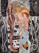 Klimt Painting Originals - Homage to Klimts Three Ages of Woman by Sheri Howe